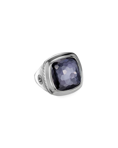 Albion Black Orchid Statement Ring