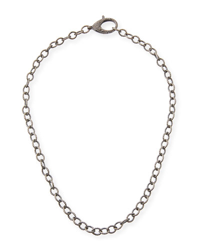 Diamond Lock Chain Necklace, 18