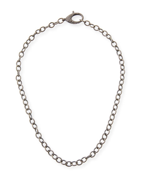 "Margo Morrison Diamond Lock Chain Necklace, 18"""
