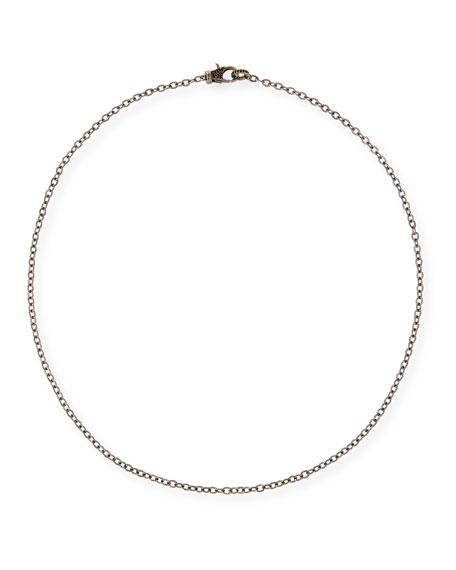 Margo Morrison Rhodium-Plated Sterling Silver Chain Necklace with Spinel Clasp, 24""