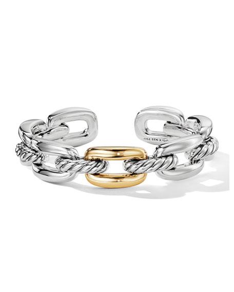 David Yurman Wellesley Link Single-Stack Bracelet w/ 18k Gold