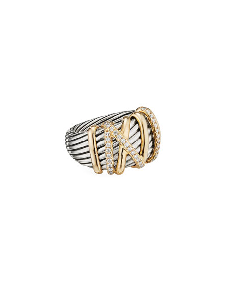 David Yurman Helena Ring w/ Diamonds & 18k Gold
