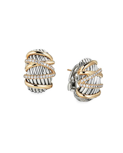 Helena Diamond Shrimp Earrings