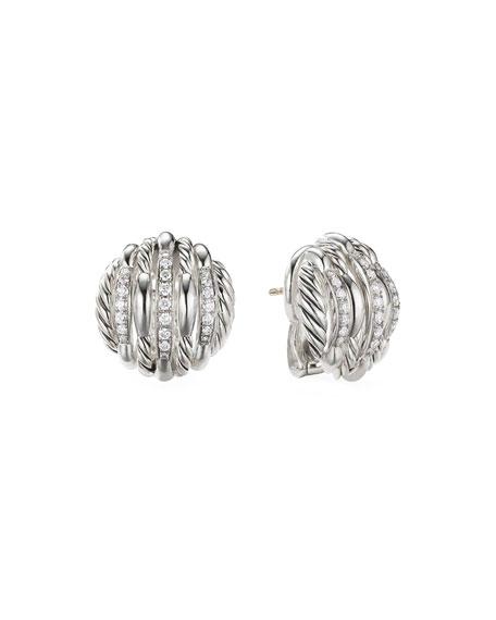 David Yurman Tides Diamond & Cable Stud Earrings