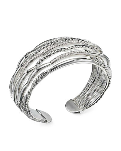 Tides Large 7-Row Diamond & Cable Cuff