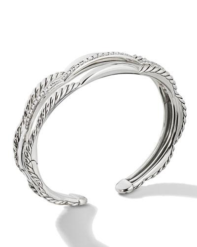 Tides Three-Row Diamond Pave Bracelet