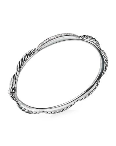 Tides Diamond & Cable Single-Row Bracelet