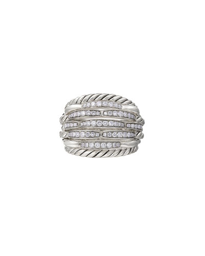 Tides Large Dome & Diamond Pave Ring