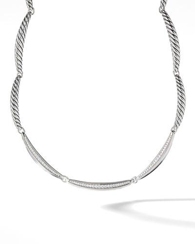 Tides Single-Row Triple-Diamond Pave Necklace
