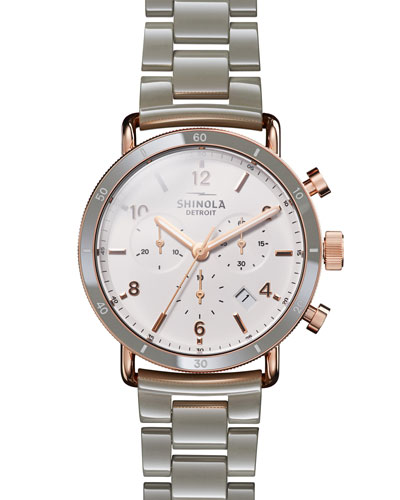 Canfield Sport 40mm 3-Eye Chronograph Watch with Bracelet