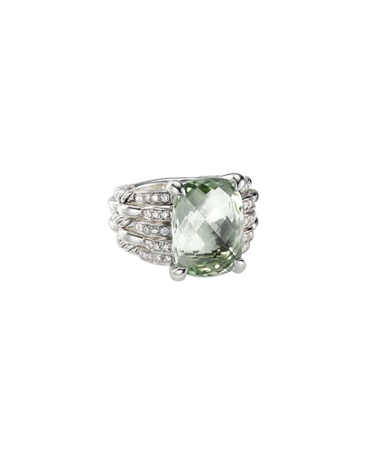 Tides Diamond & Prasiolite Ring
