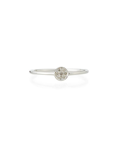 Tiny Pave Diamond Disc Ring