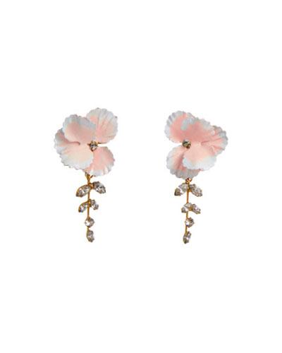 Quick Look Jennifer Behr Senna Flower Earrings