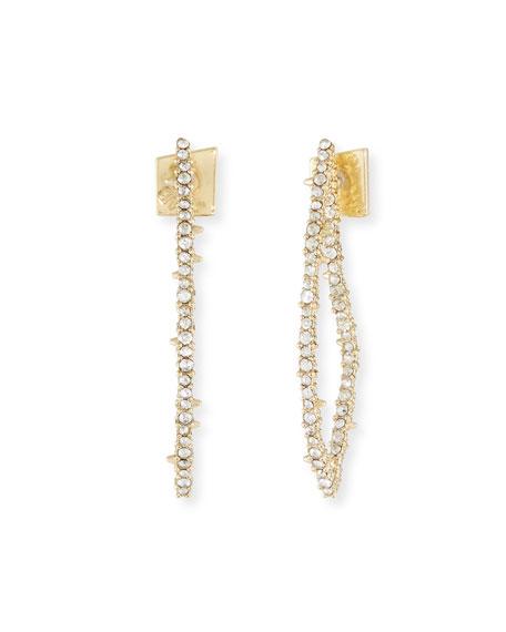 Alexis Bittar Crystal Abstract Thorn Earrings