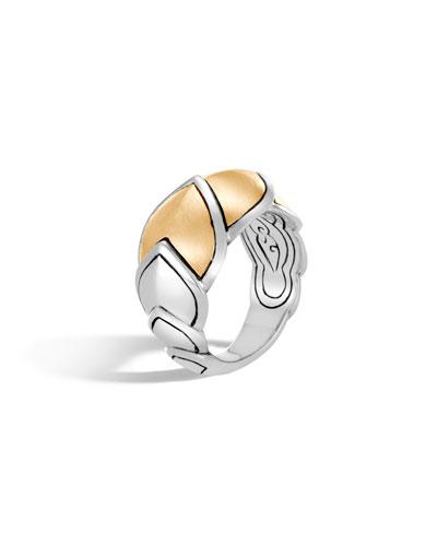 Legends Naga 15mm 18k Gold Scale Ring