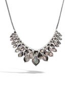 John Hardy Legends Naga Mother-of-Pearl Layered Bib Necklace