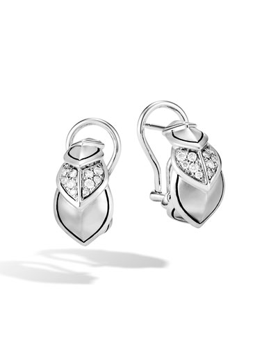 Legends Naga Diamond Huggie Hoop Earrings