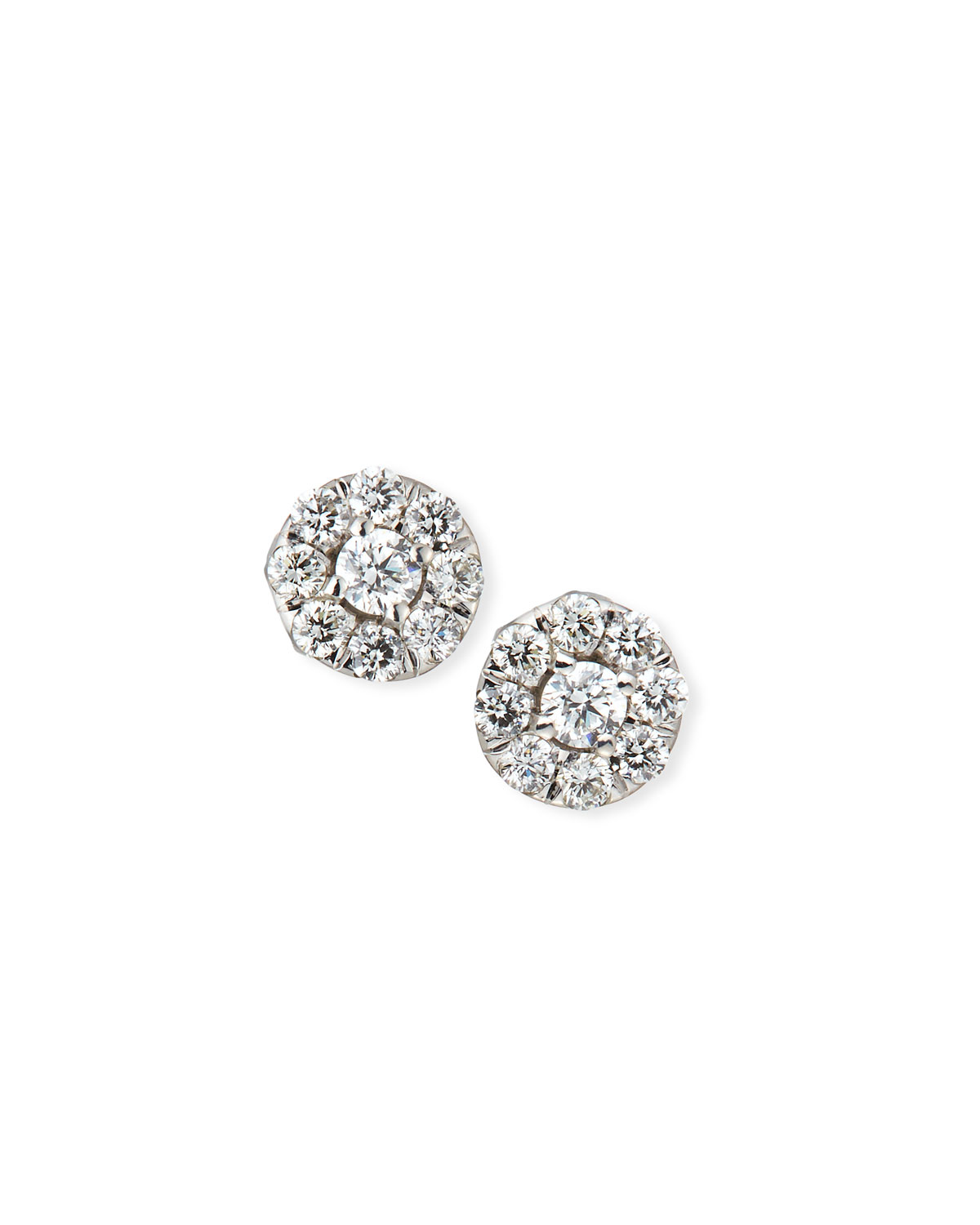 Roberto Coin 18k White Gold Diamond Halo Stud Earrings fmWpG6