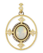 Armenta Old World Opal Triplet Enhancer Pendant w/