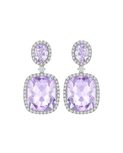 Signature Lavender Amethyst & Diamond Drop Earrings