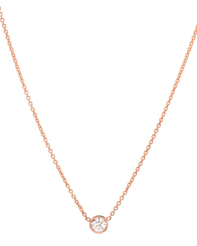 912d3de8a Quick Look. Zoe Lev Jewelry · 14k Rose Gold Small Bezel Diamond Necklace