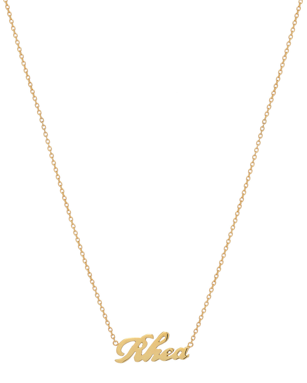 ZOE LEV JEWELRY Personalized Script Necklace, 14K Yellow Gold