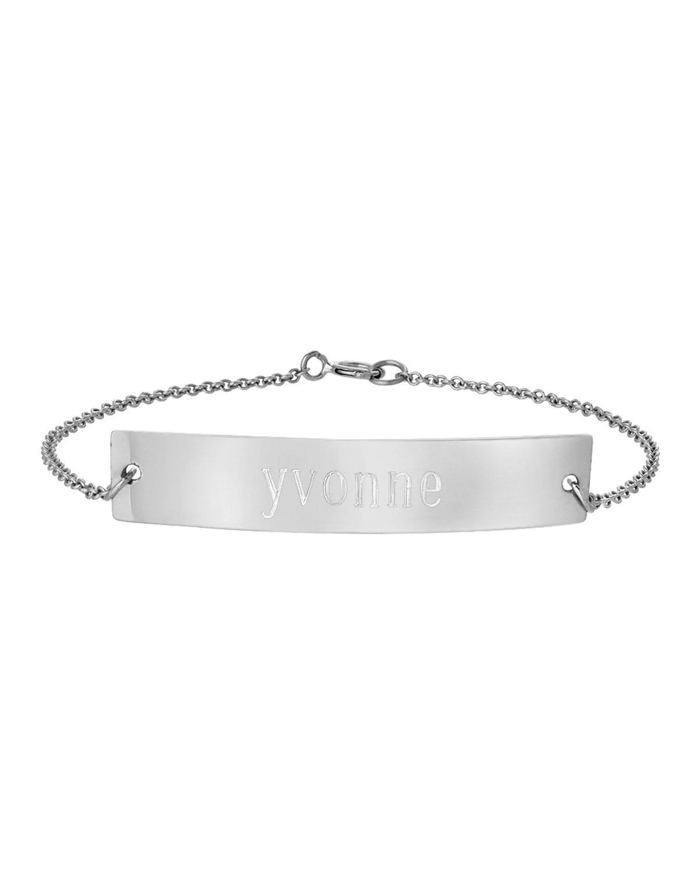 ZOE LEV JEWELRY Personalized Nameplate Bracelet, Sterling Silver