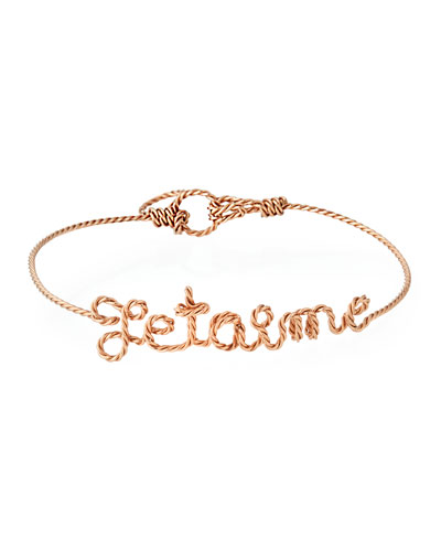 Personalized 5-Letter Twist Wire Bracelet, Rose Gold Fill