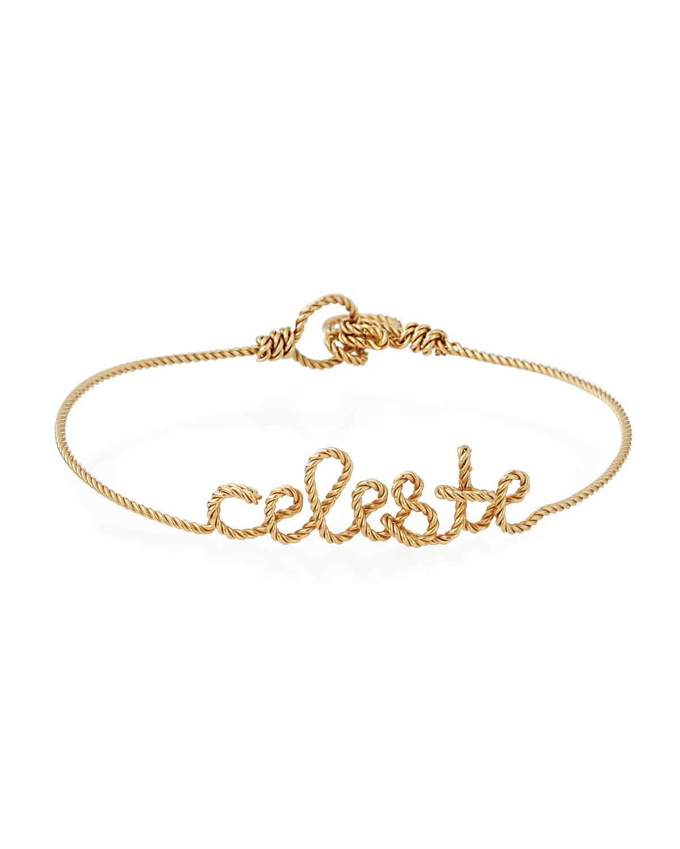 Personalized 10-Letter Twist Wire Bracelet