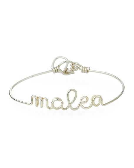 Atelier Paulin Personalized 5-Letter Wire Bracelet, Silver