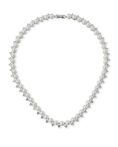 Micro Pearl Collar Necklace
