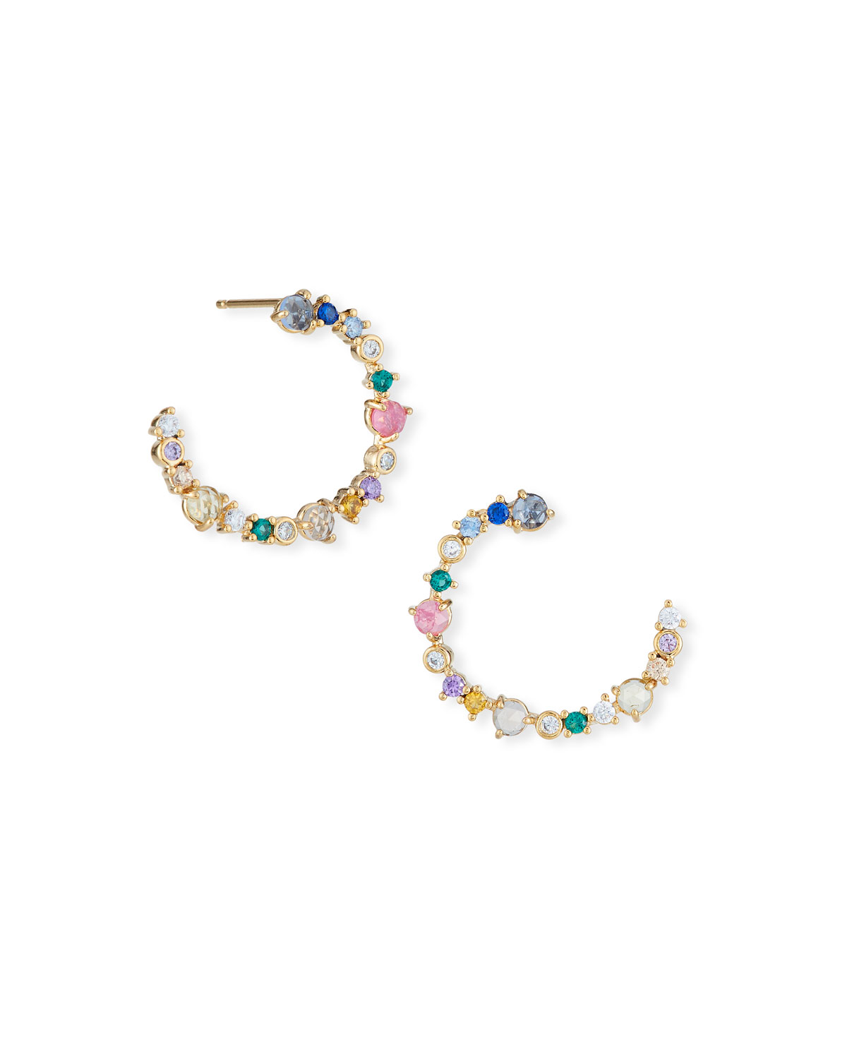 TAI FRONT-FACING MULTICOLORED STONE EARRINGS