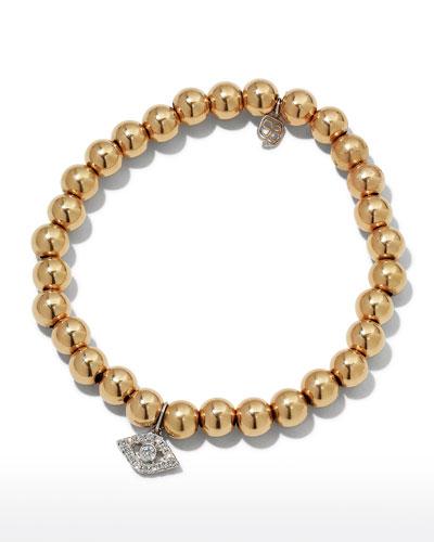 14k Two-Tone Gold & Diamond Eye Bracelet