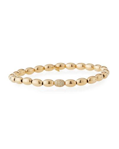 14k Gold & Diamond Bead Bracelet