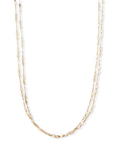 14k Gold Mini Kite Double-Strand Necklace
