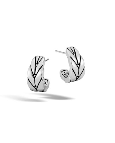 Modern Chain Small J-Hoop Earrings