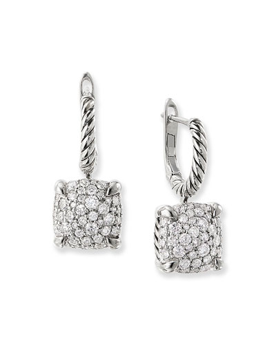 Chatelaine Silver Diamond Drop Earrings