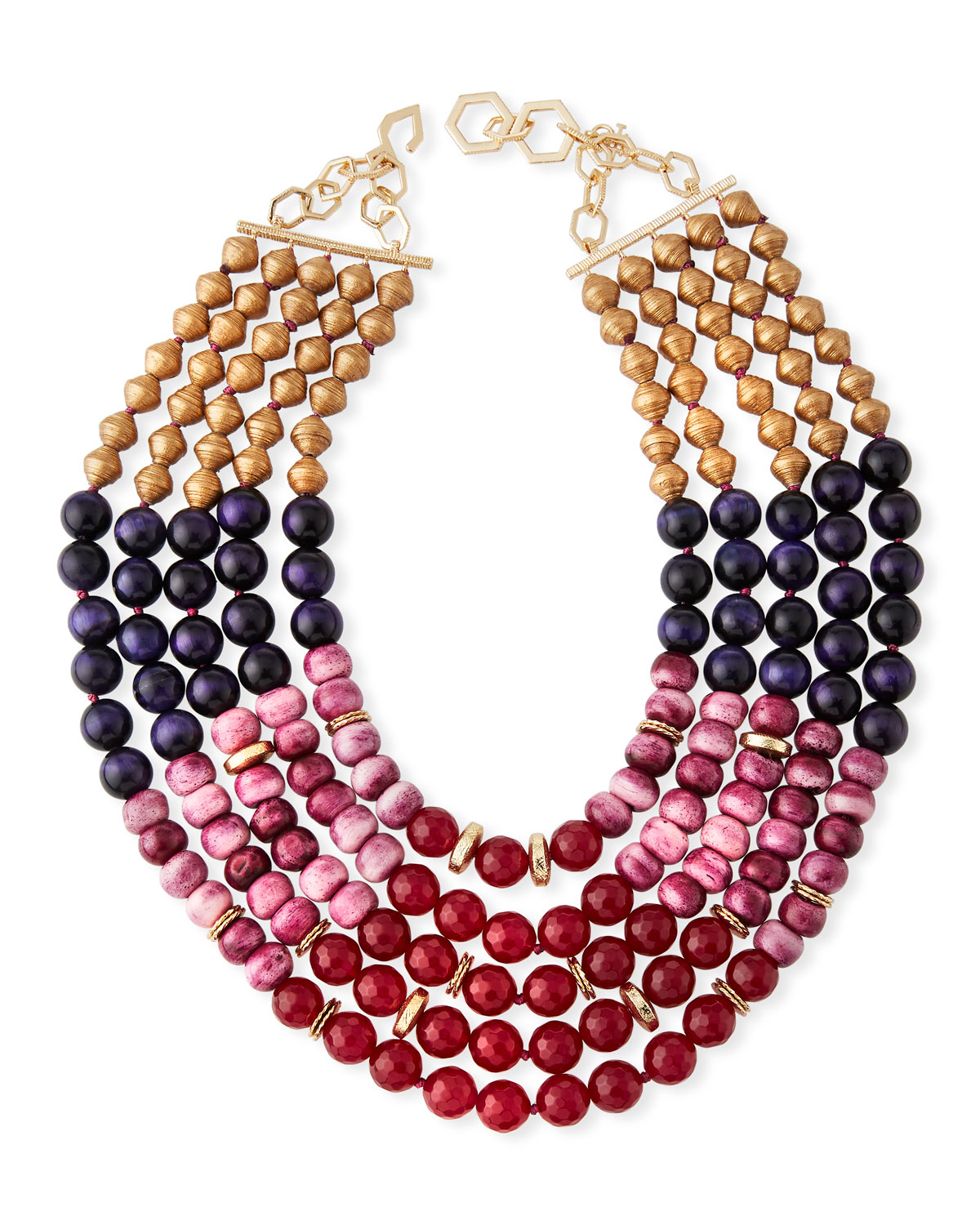 Multilayer Necklace w/ Mixed Beads