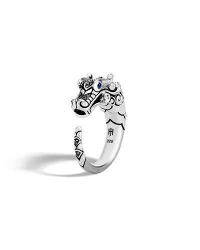 Legends Naga Silver Dragon Ring w/ Brushed Finish