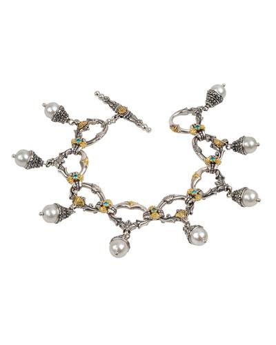 Thalia Multi-Pearl Charm Bracelet