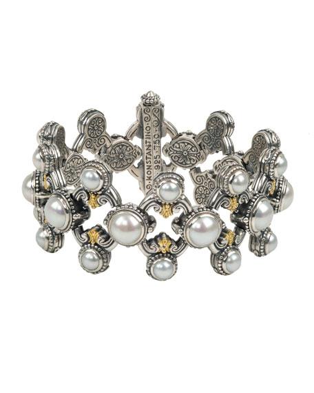 Konstantino Thalia Multi-Pearl Open Bracelet