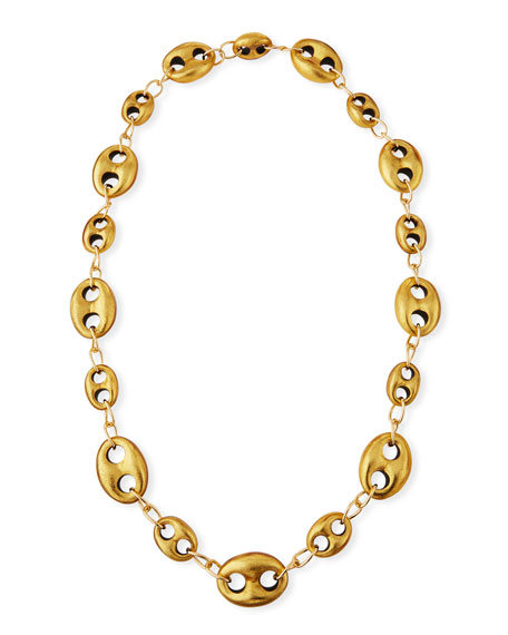 Viktoria Hayman Marine Open-Link Golden Foil Chain Necklace