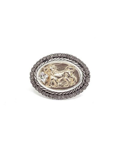 Lia Signet Ring w/ Lion Motif