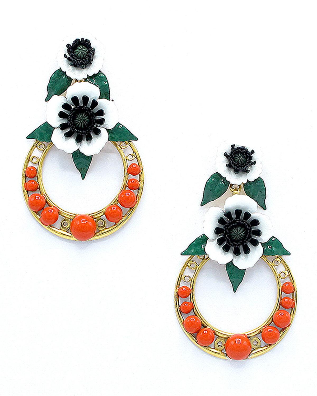 Odessa Hoop Drop Earrings