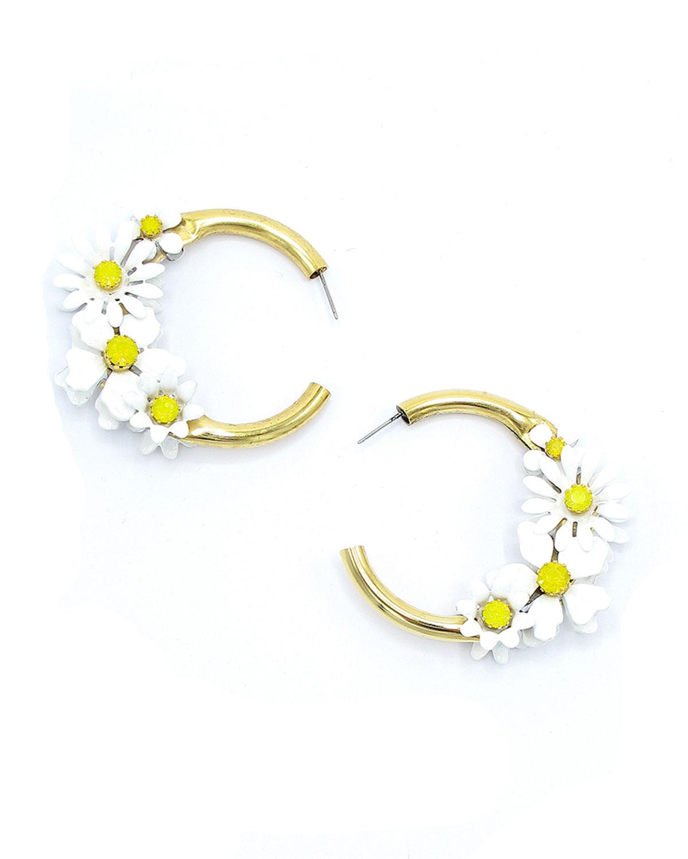 Daisy Hoop Earrings