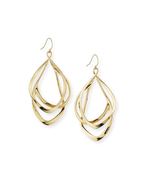 Alexis Bittar Orbit Wire Drop Earrings, Golden