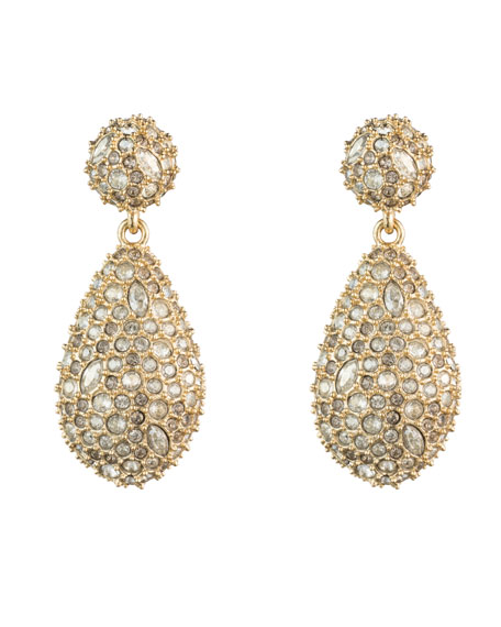 Alexis Bittar Crystal-Encrusted Pod Drop Post Earrings