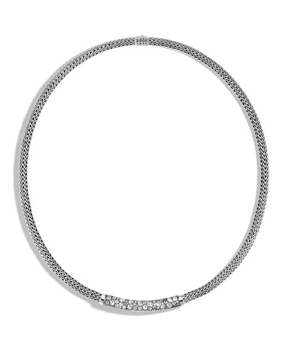 Classic Chain Diamond Pave 5mm Necklace