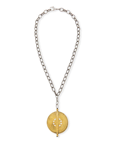 Hipchik Claudia Medallion Pendant Necklace