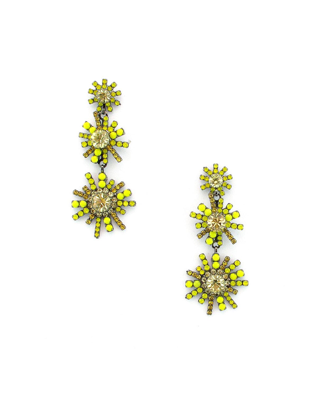 Sunrise Crystal Drop Earrings